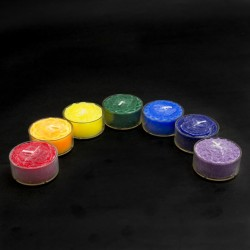Chakra Tea Light Candle Set (Set of 7) - Scented