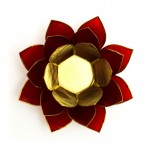 Tea Light Holder - Red Lotus (Root Chakra)